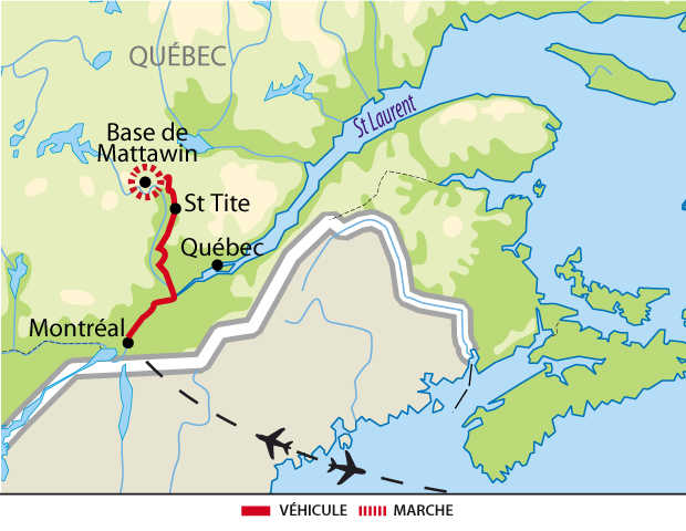 Carte : Centre d'Aventure de Mattawin