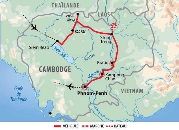 Carte circuit au fil du Mékong