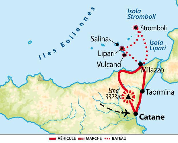 Carte circuit des îles éoliennes