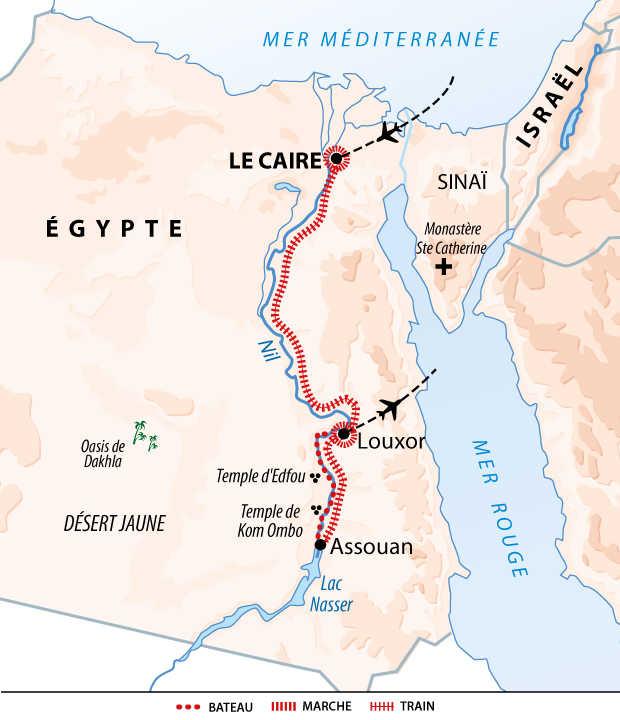 Carte circuit en Egypte