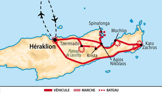 carte Crète de l'est