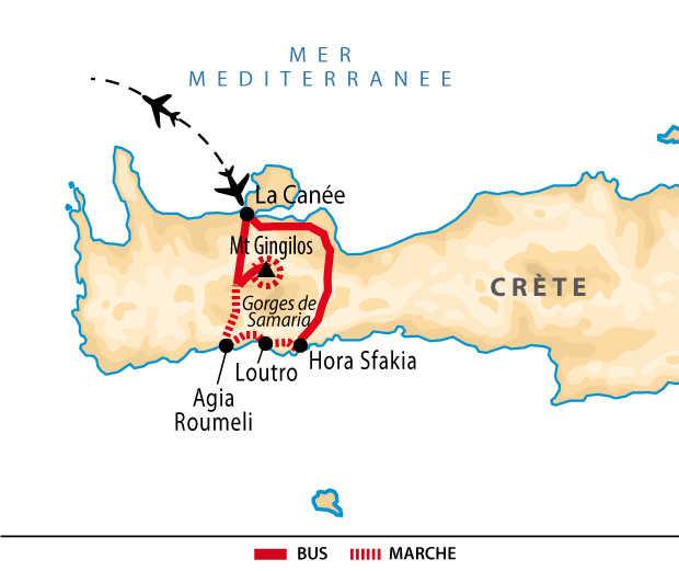 carte Crète de l'ouest