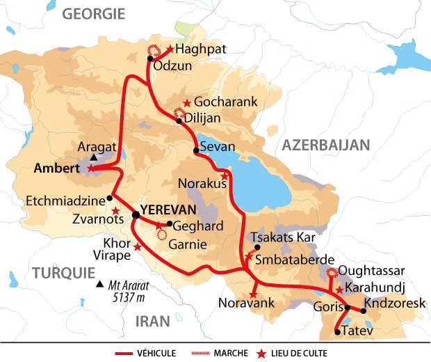 Carte de balade arménienne, entre nature et culture