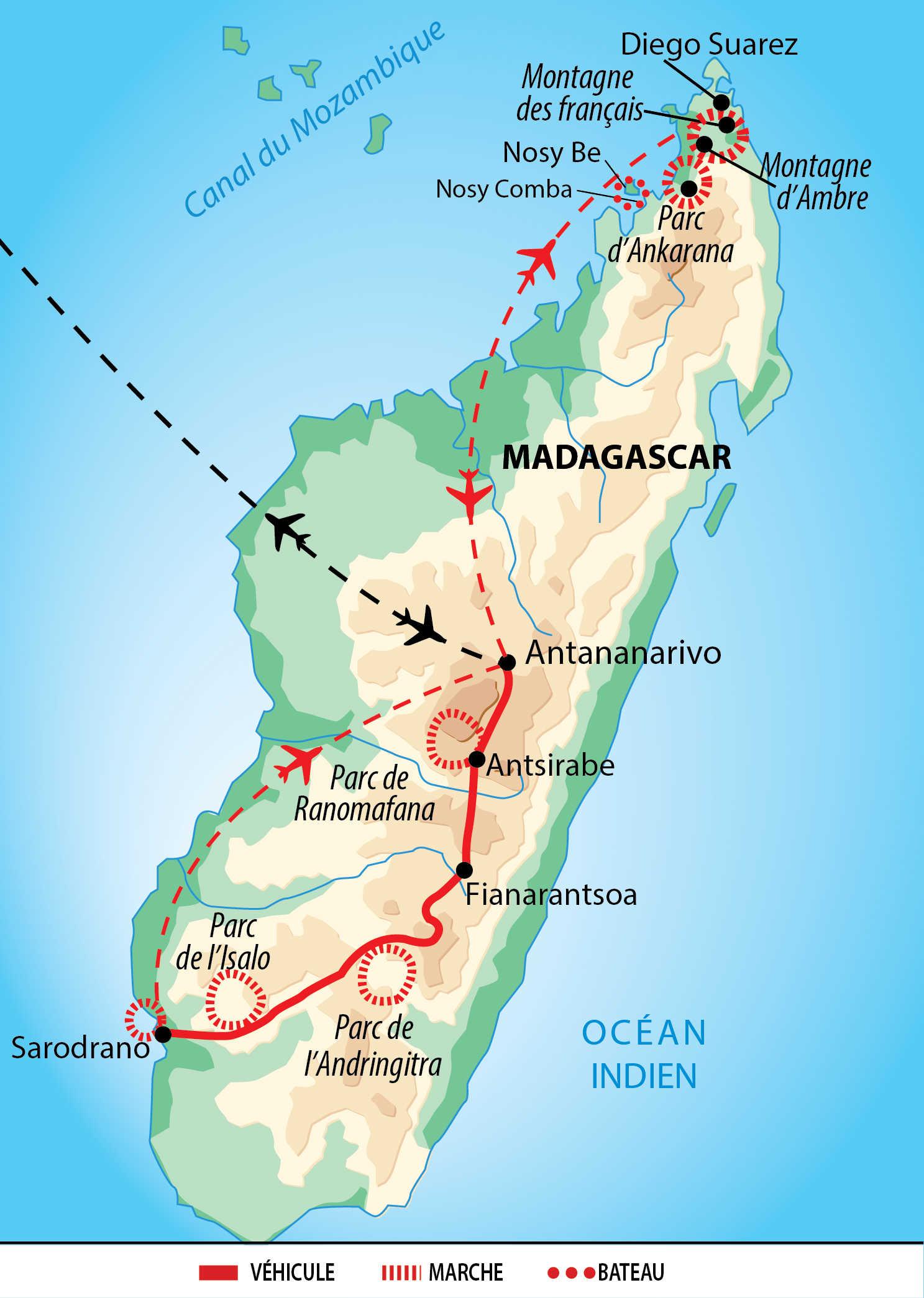 Carte de circuit à Madagascar