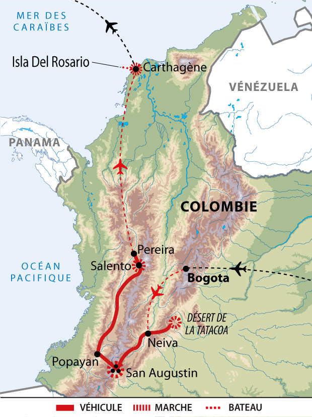 Carte de circuit en Colombie