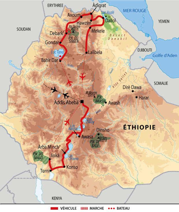 Carte de circuit en Ethiopie