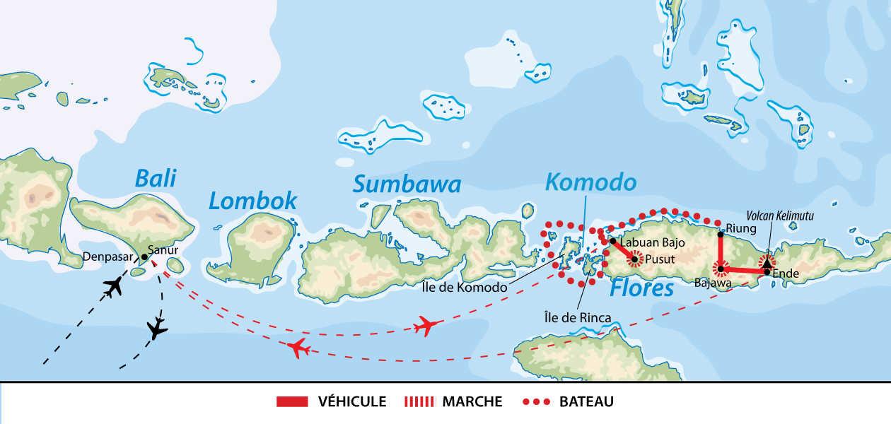 Carte de croisière dans les îles de la Sonde Orientale
