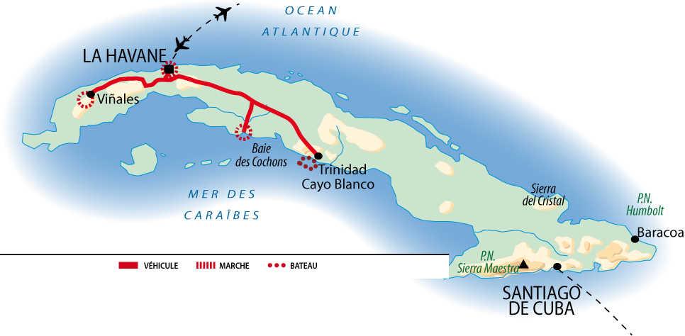 Carte de la découverte de l'île crocodile en 10 jours