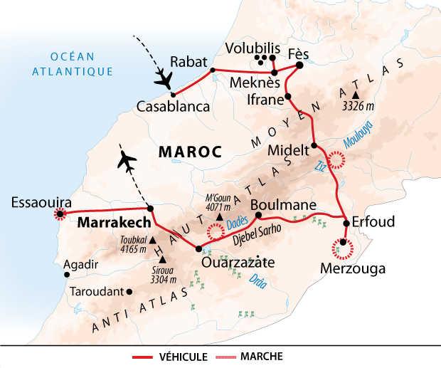 Carte de la grande découverte du Maroc