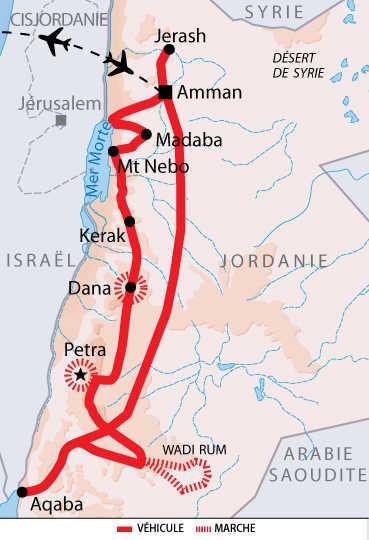 Carte de la route du roi en individuel