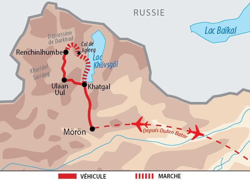 Carte de la transhumance avec les nomades