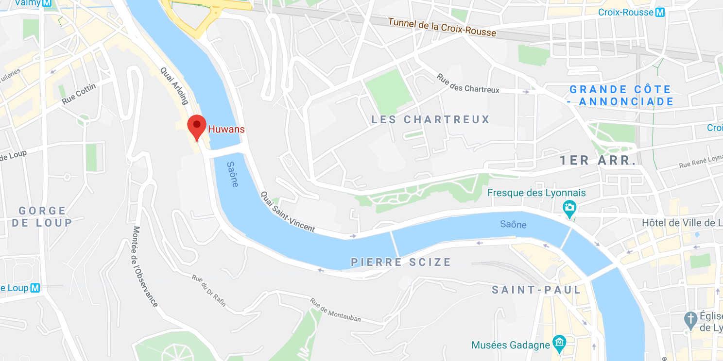 Carte de l'agence Huwans à Lyon