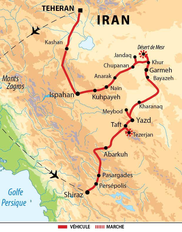 Carte de l'essentiel de l'Iran