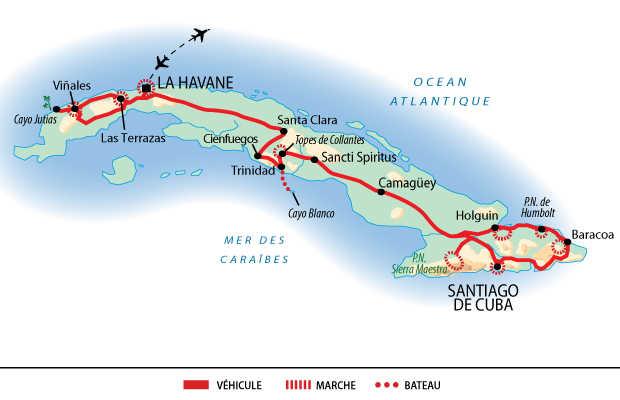 Carte de l'intégral de Cuba