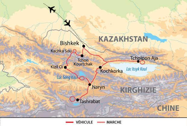 Carte de l'itinéraire AKIRFAM