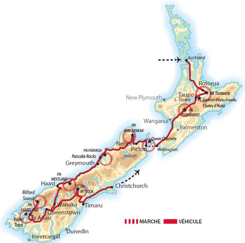 Carte de l'itinéraire OZEL