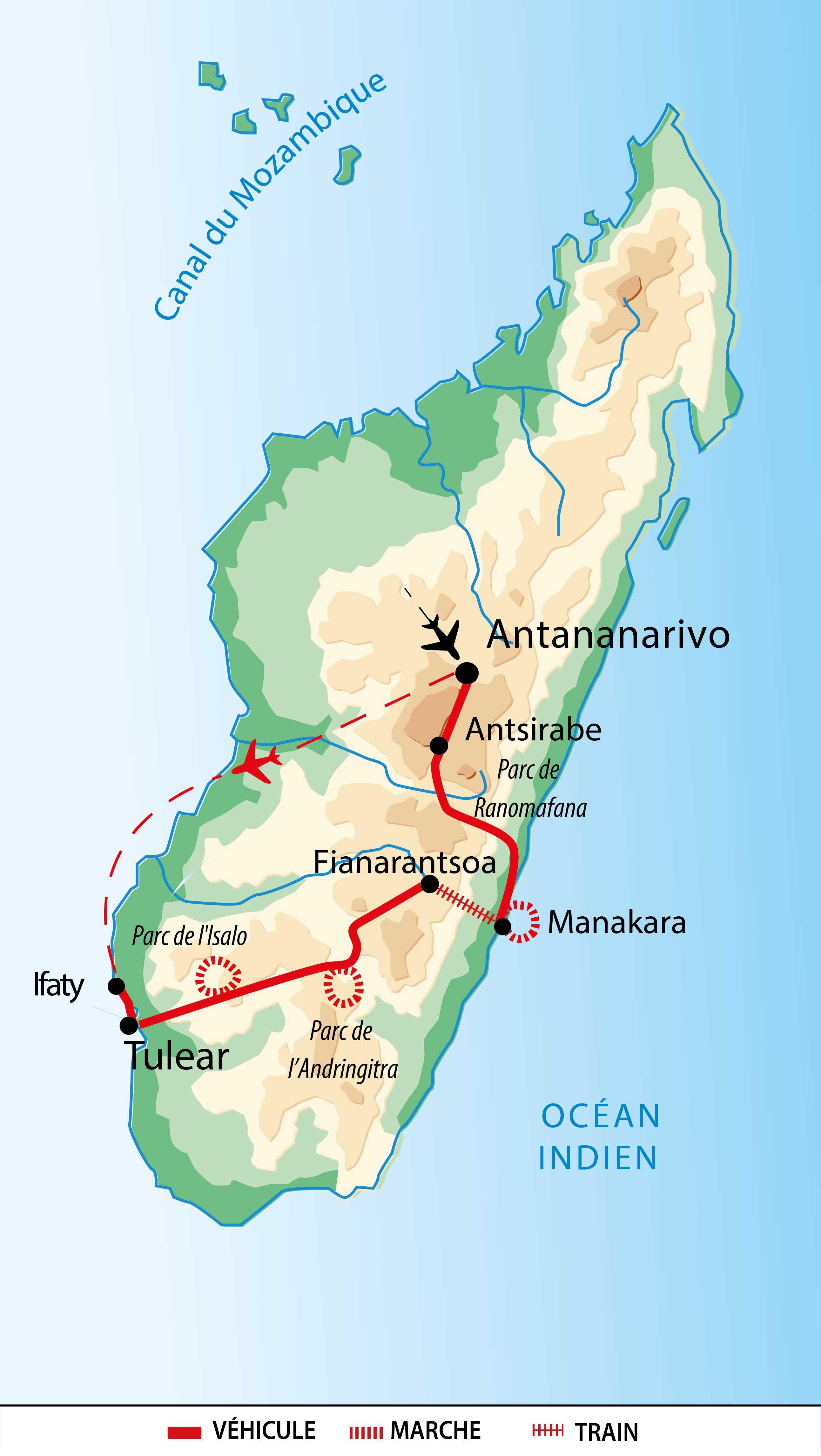 Carte de Madagascar sud