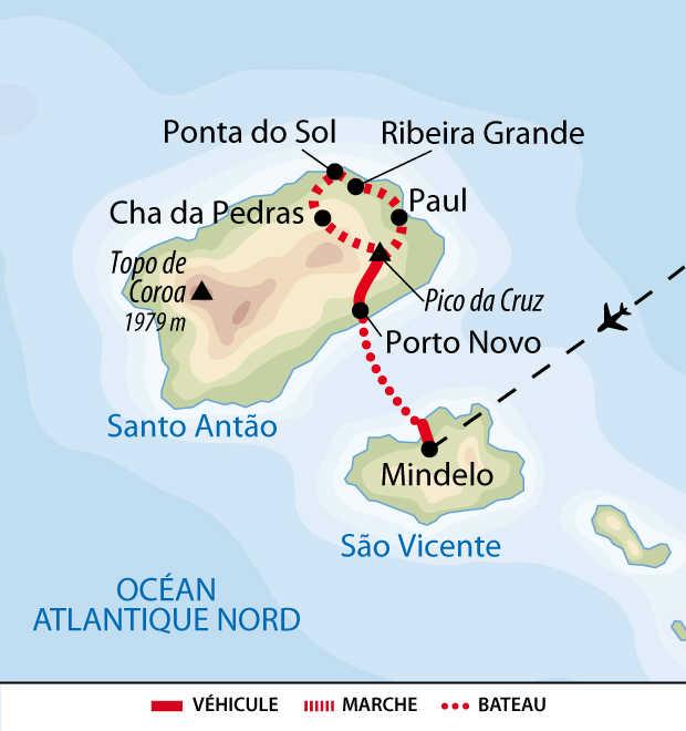 Carte de voyage à Santo Antao QCAP8