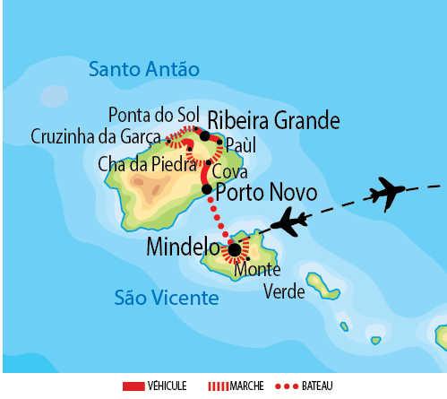 Carte de voyage au Cap Vert