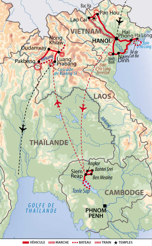 Carte de voyage découverte indochinoise
