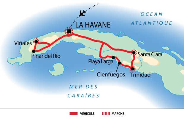 Carte des randos cubaines