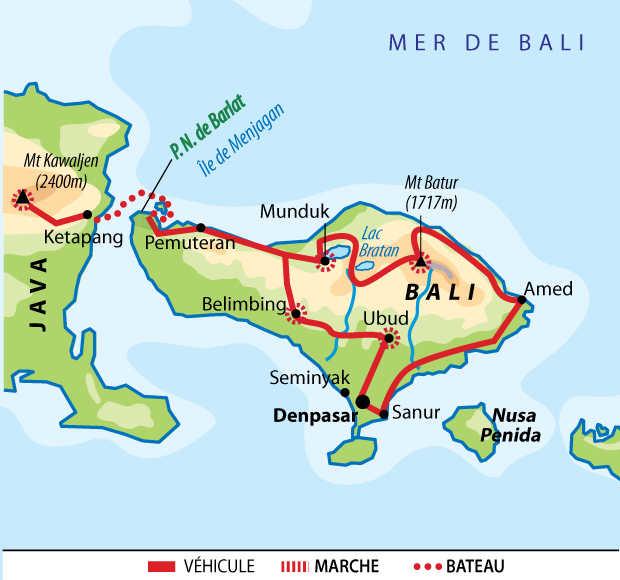 Carte d'Indonésie en multiactivités