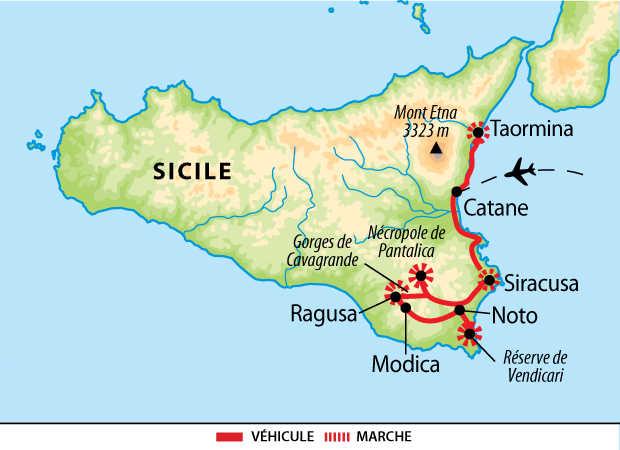 Carte du circuit de la province de Syracuse