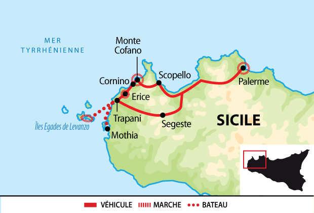Carte du circuit de la Sicile de l'Est