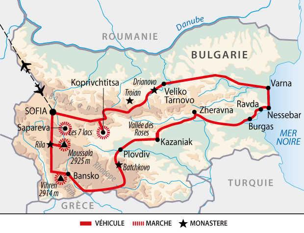 Carte du grand tour bulgare