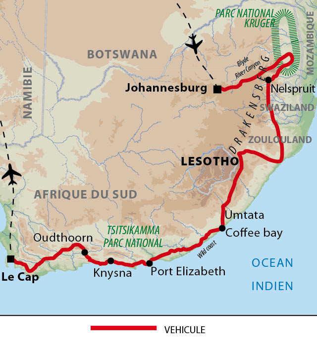 Carte du Kruger au Cap en individuel