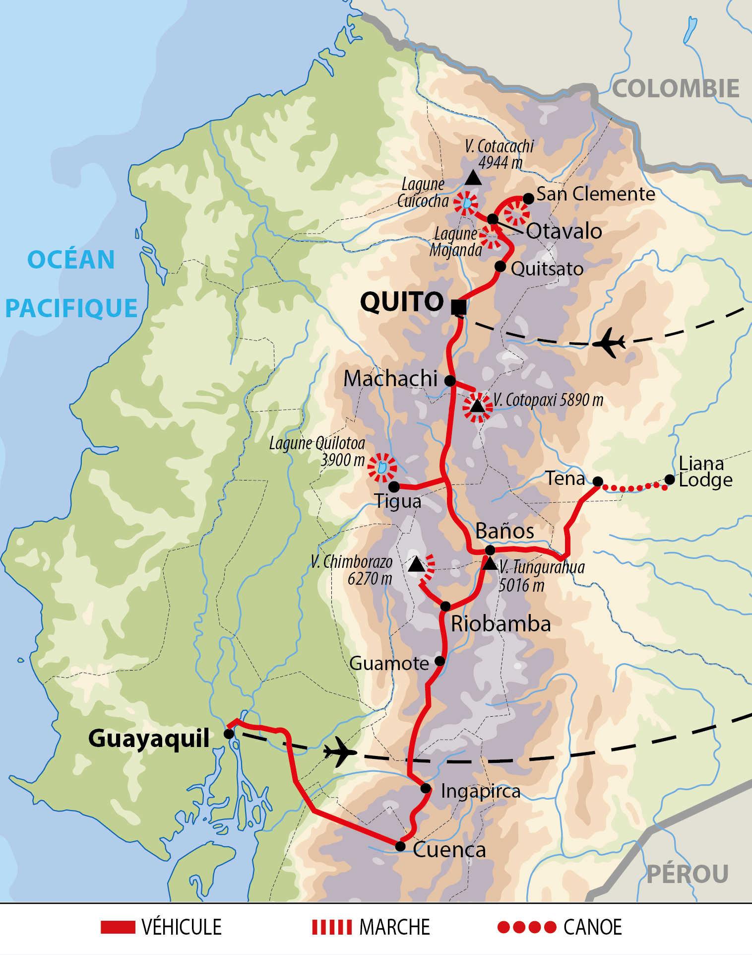 Carte du Tour de l'Equateur authentique