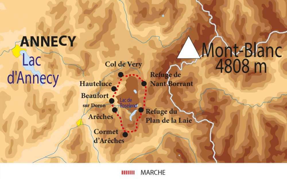 Carte du tour du Beaufortain