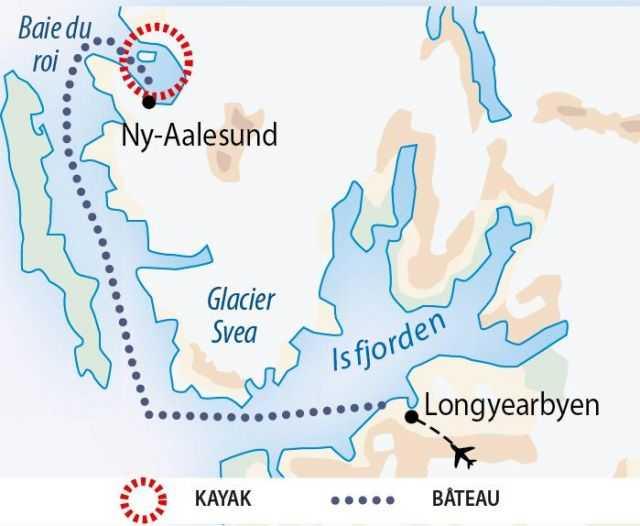 Carte du voyage Baie du Roi au Spitzberg