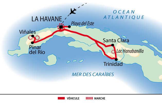 Carte du voyage Buena vista de Cuba