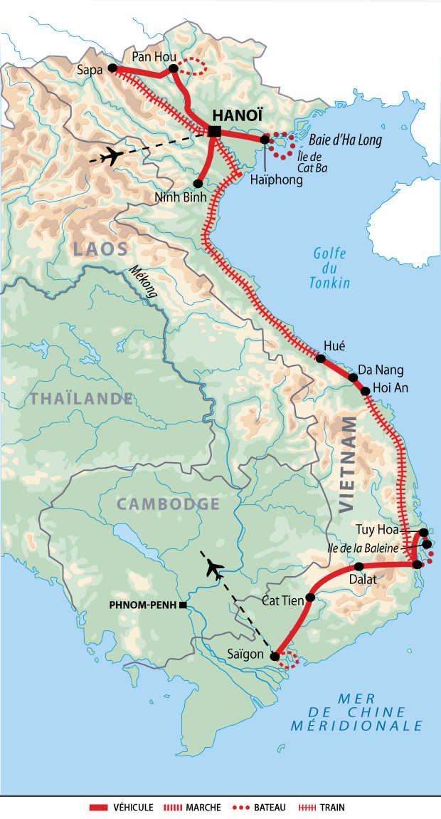 Carte itinéraire AVITIND