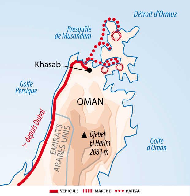 Carte Musandam, Oman