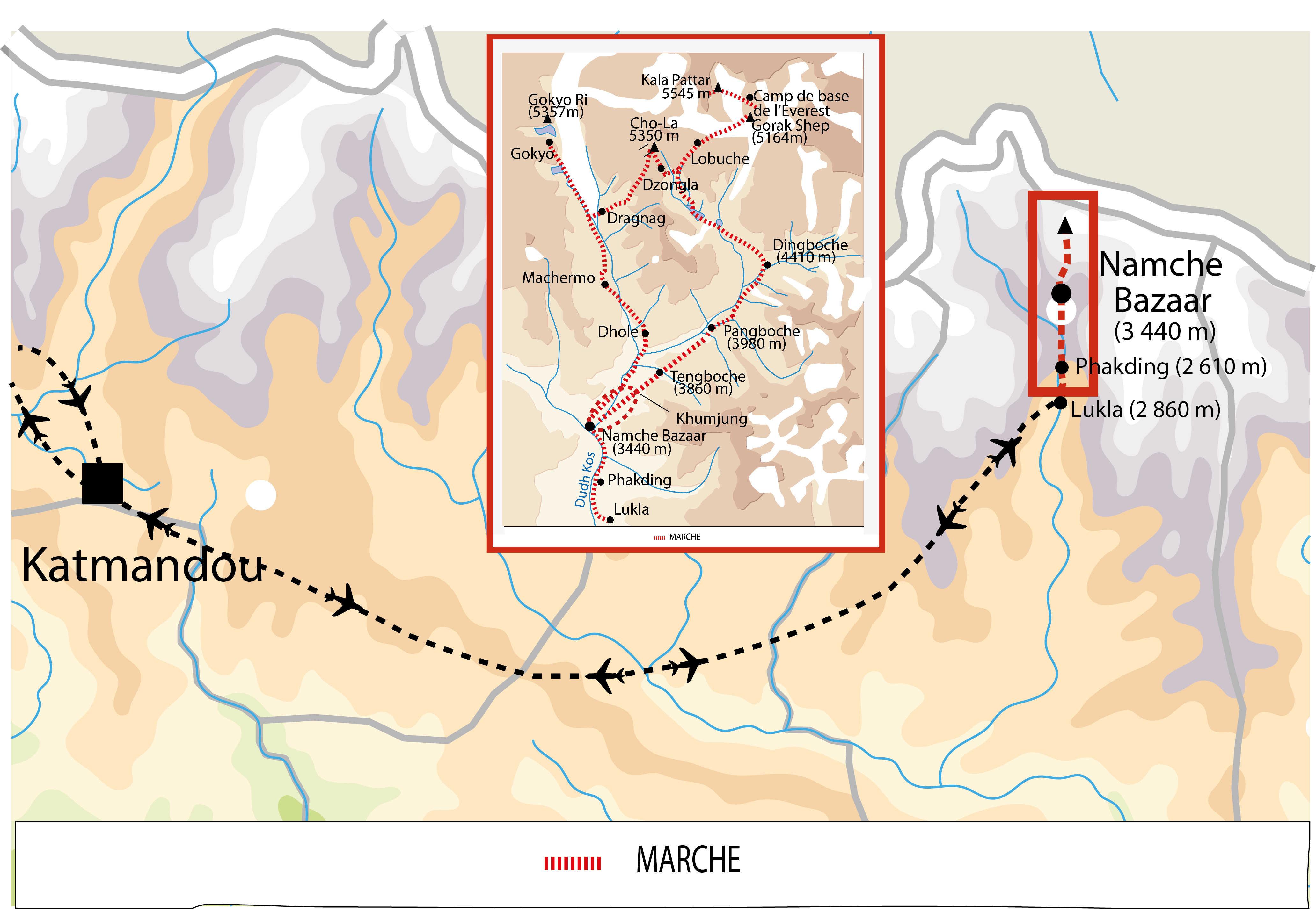 Carte de l'itinéraire NEVGOK