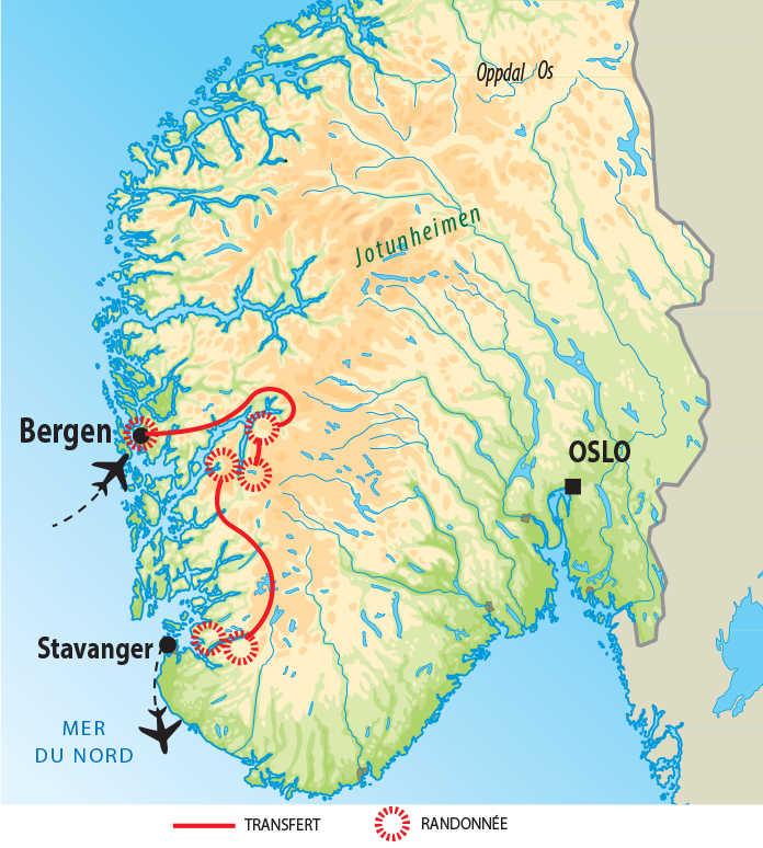 Carte Norvège