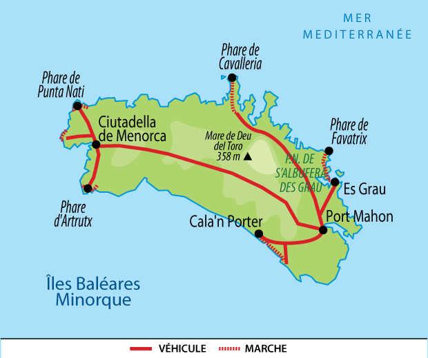 Carte voyage Baleares Minorque Liberte