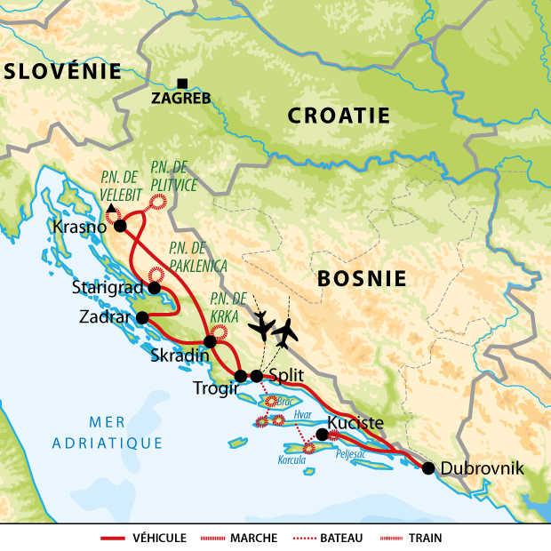 Carte voyage Croatie Best-Of
