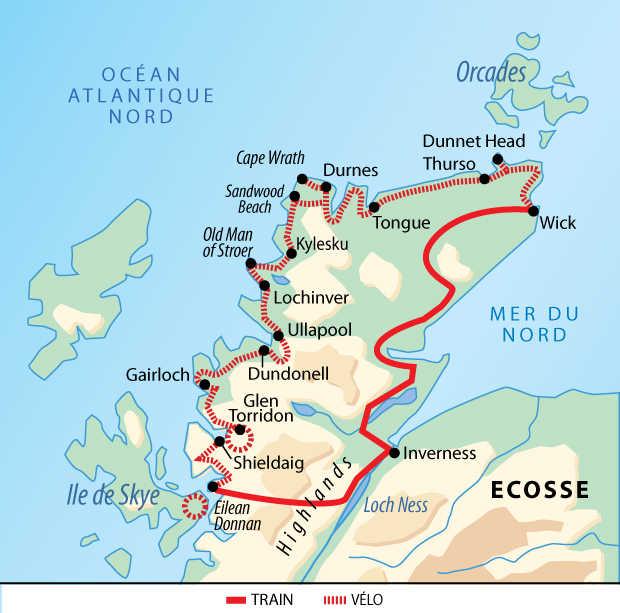 Carte voyage Ecosse Liberte Velo