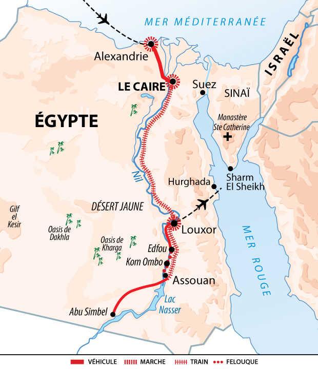 Carte Voyage Egypte Individuel