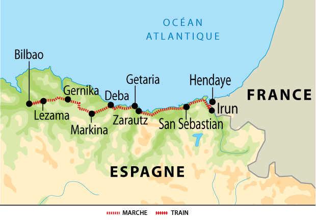 Carte voyage Espagne Bilbao Liberte