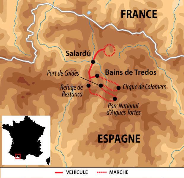 Carte voyage Espagne Pyrenees Liberte