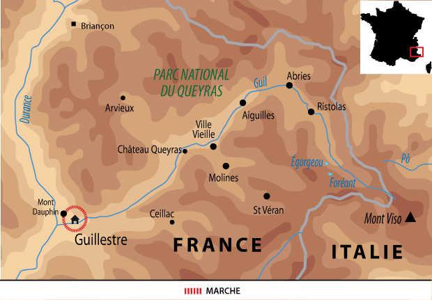 Carte voyage France Alpes Guillestre Famille