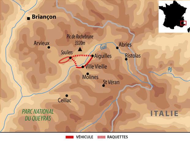 Carte Voyage France Alpes Queyras Reveillon