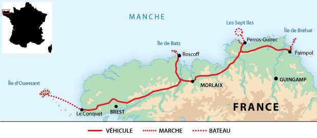 Carte voyage France Bretagne Liberte