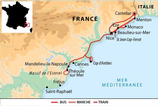 Carte voyage France Cote d'Azur Liberte