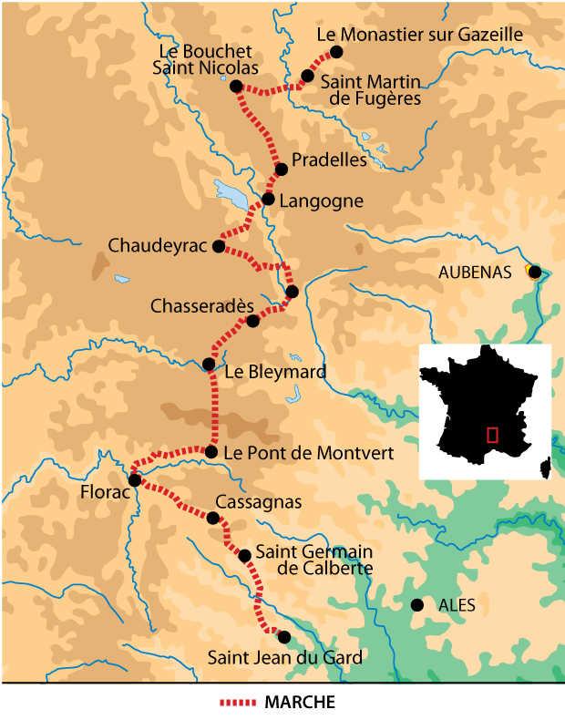 Carte voyage France Massif Central Occitanie Liberte