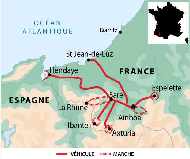 Carte voyage France Pays Basque